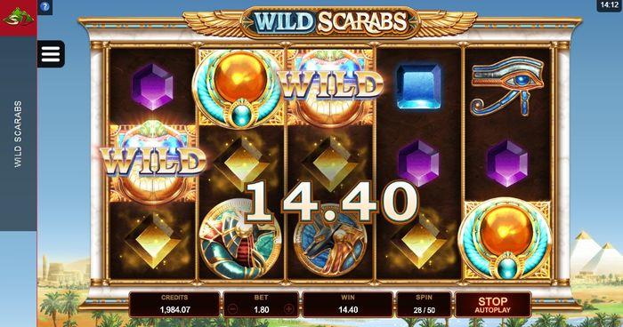 Игровой автомат Wild Scarabs в казино Вулкан онлайн