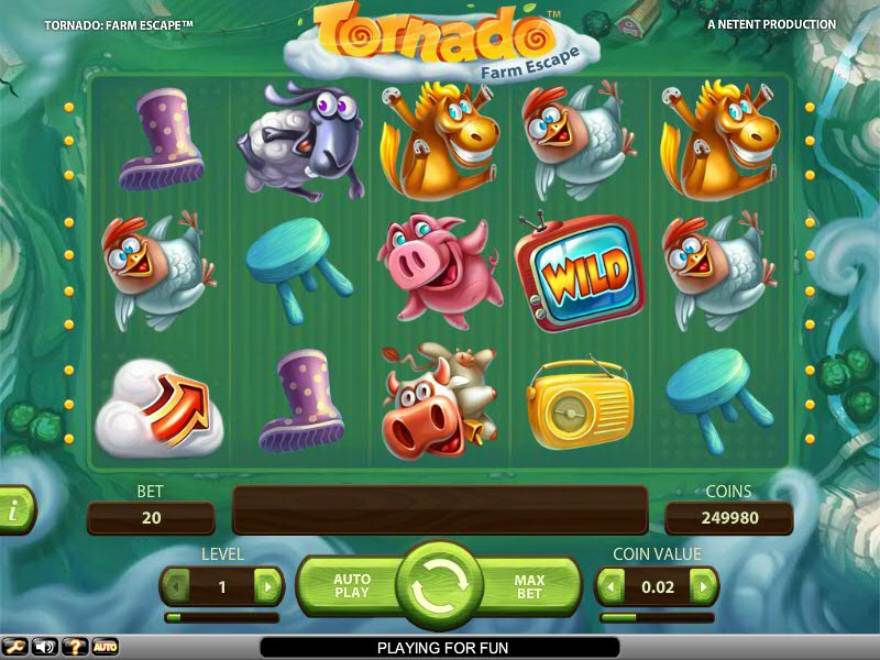 Бесплатный игровой автомат Tornado: Farm Escape