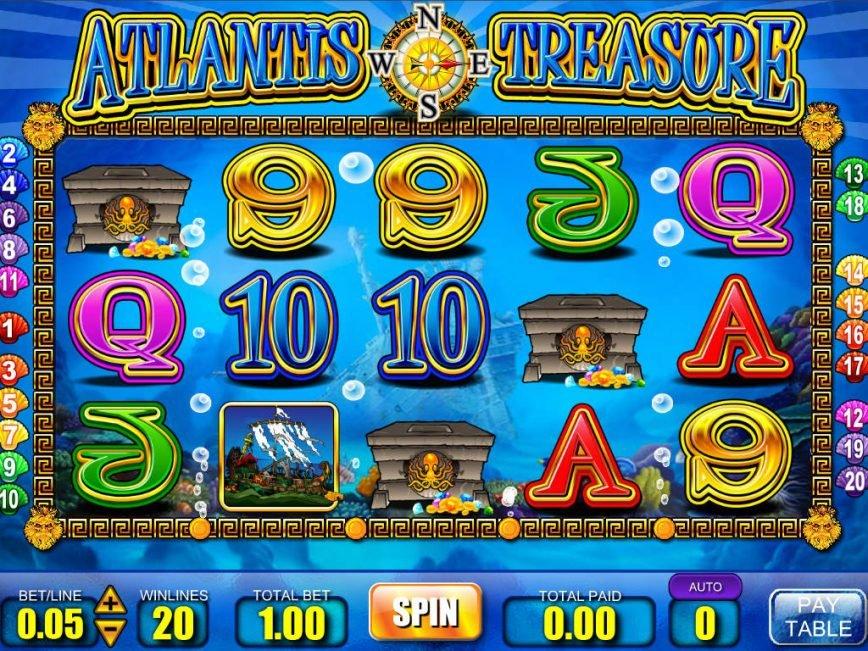 Слот Atlantis в казино Вулкан